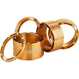 "KCNC Hollow Design Entretoise de jeu de direction 1 1/8"" 3/5/10/14/20mm, gold"